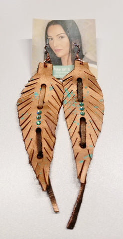 *Leather Feather Earrings | Lauren Reed