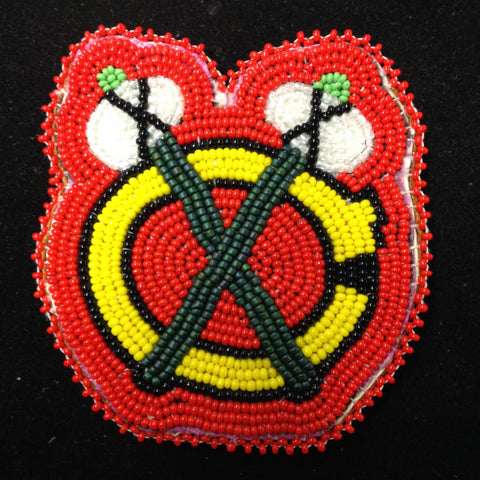 Blackhawks Beaded Hair Piece