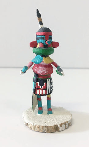 """Blue Hey Heya"" Kachina Doll 