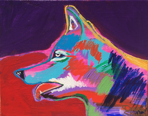 """Autumn Wolf"" - Original Painting 