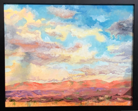 """ABQ Sunset"" - Oil on Gesso Board 