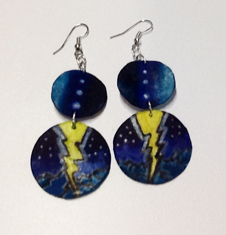 Rawhide Lightning Earrings