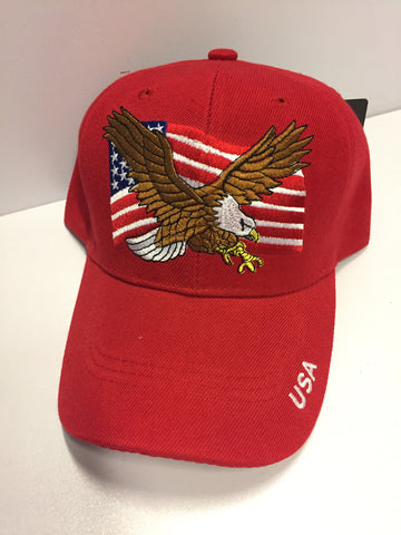"""USA"" Eagle and Flag Hat"