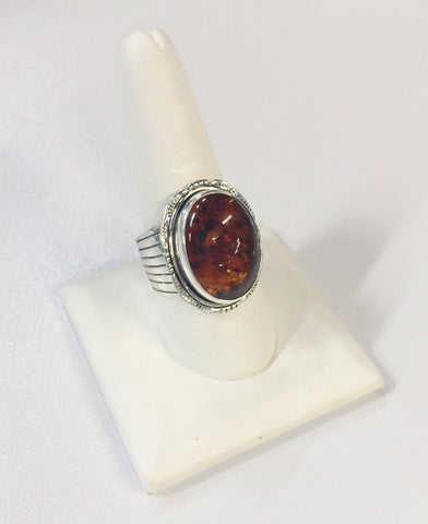 *Silver and Amber Ring | From Albuquerque