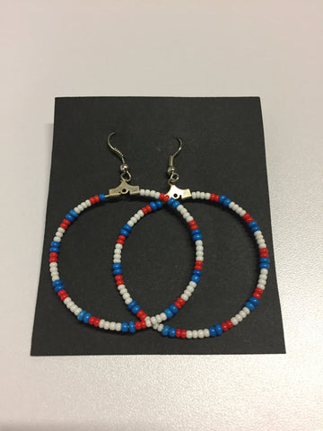 *Beaded Hoop Earrings | Cecilia Bernice BullBear