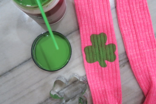 DIy St. Patrick's Day tights