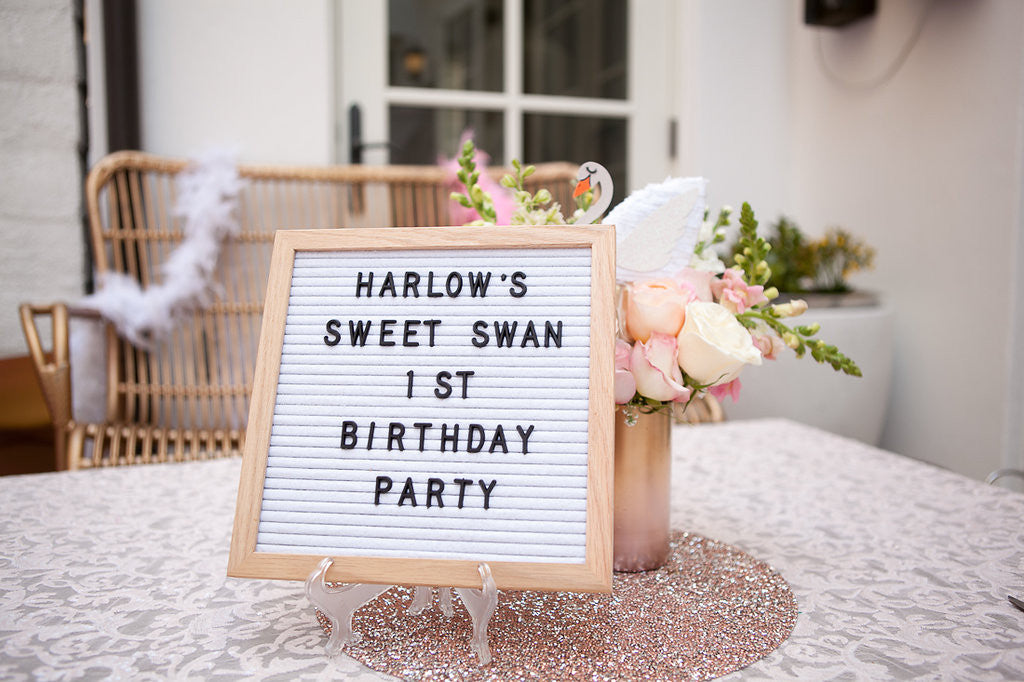Retrogram board Birthday Sign