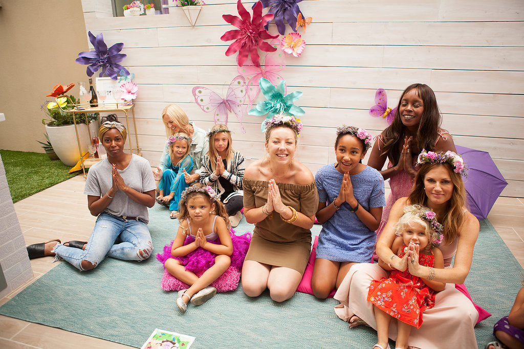 Lola Berry teaches meditation to children