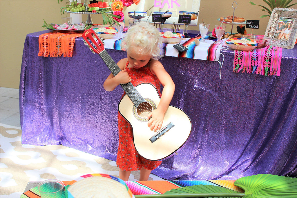 guitar playing toddler