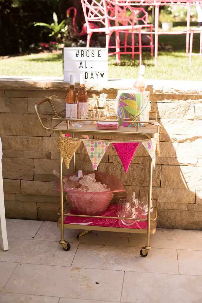 Rose Bar Cart