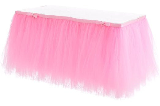 Pink Tulle Tablecloth