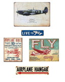 Airplane Tin Sign Bundle