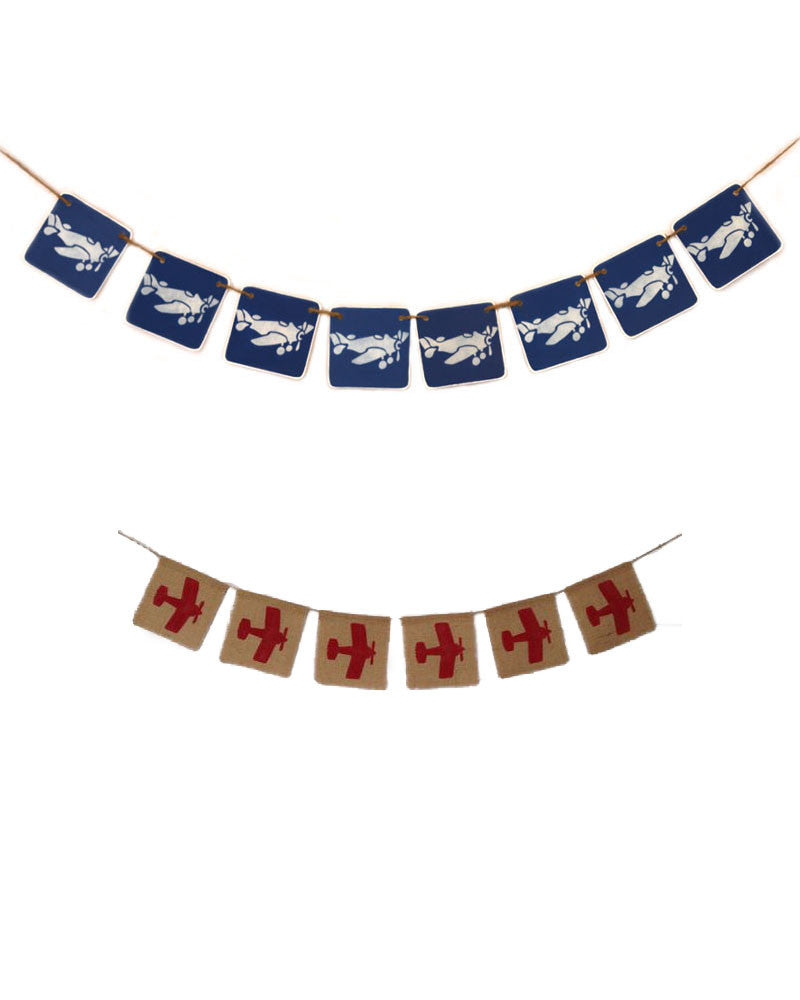 Blue and Red Airplane Garlands