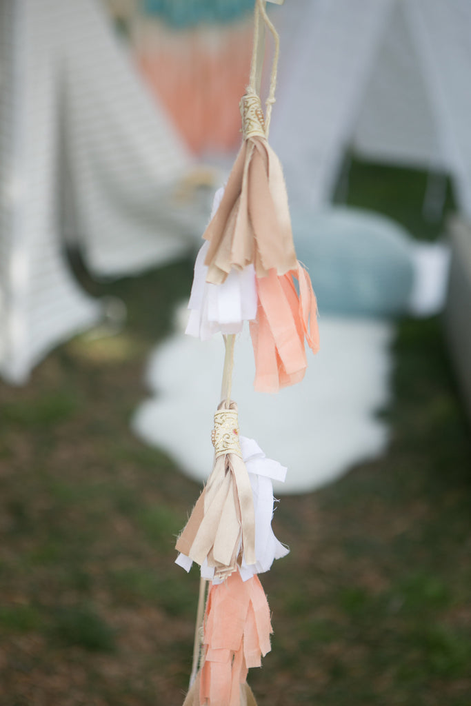 Peachy Balloon Tassels