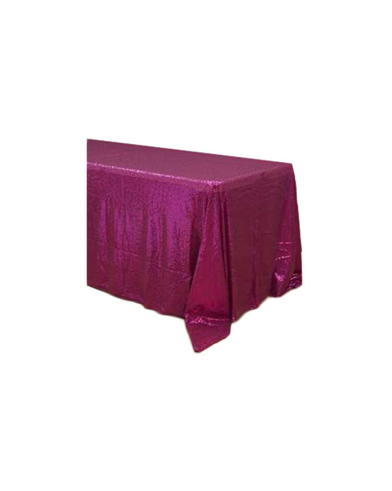 Fuchsia Sequin Tablecloth