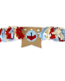 Vintage Airplane High Chair Garland
