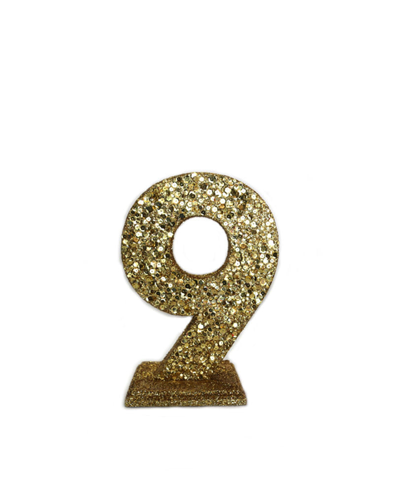 Gold Sequin Numbers