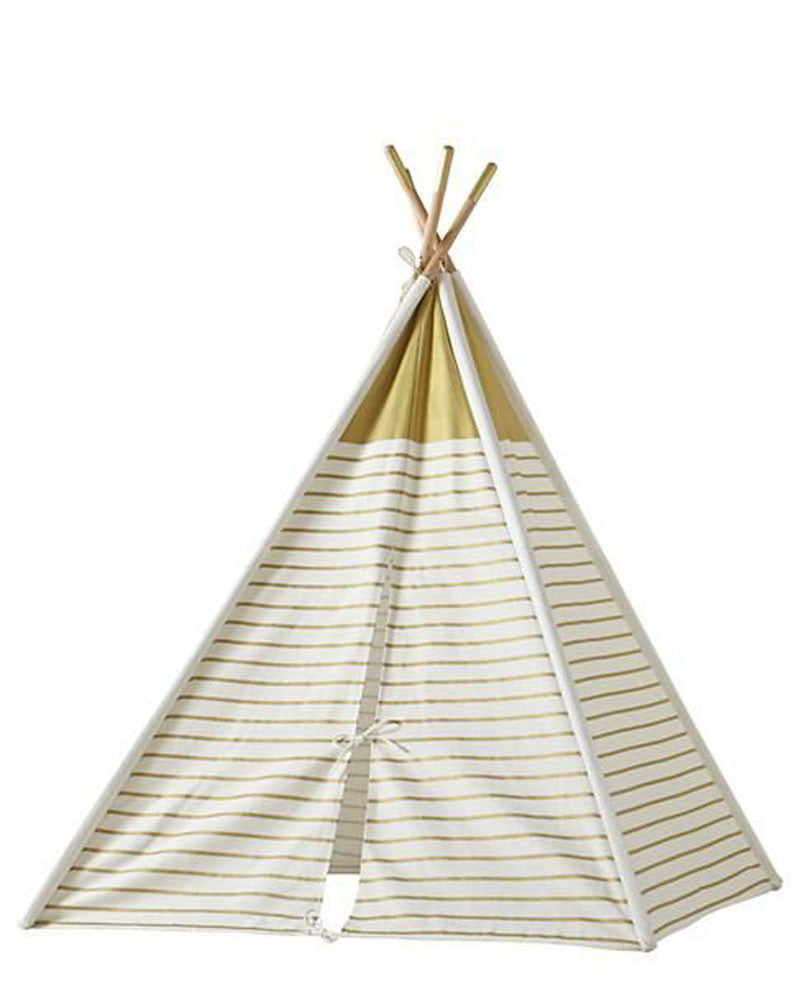 Gold and White Tee Pee