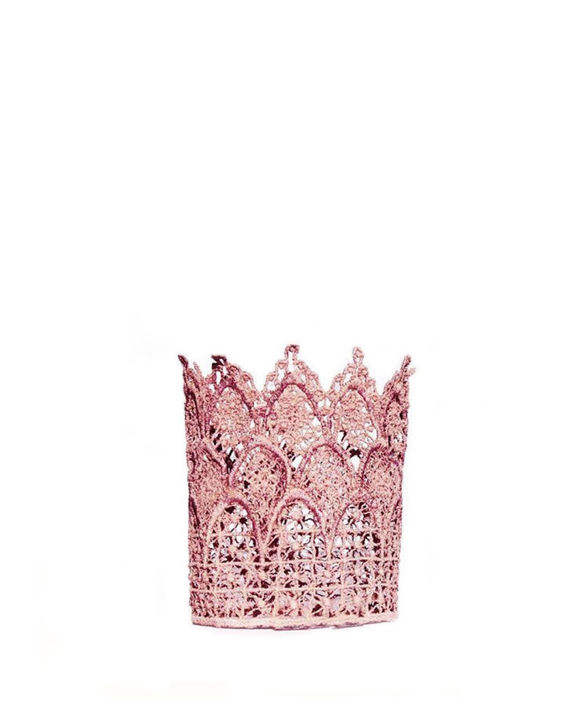 Tall Pink Lace Crown