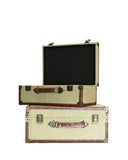 Burlap Canvas Luggage Set