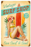 Vintage Metal Surf Signs
