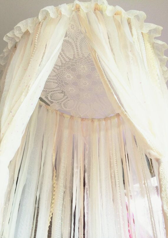 Large Lace Crochet Canopy