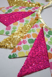 Pineapple Sequin Bundting