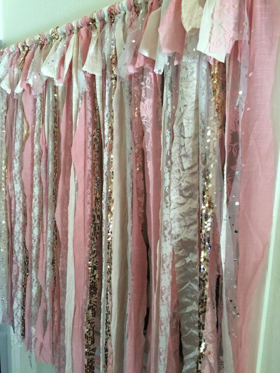 Sequin Ribbon Backdrop