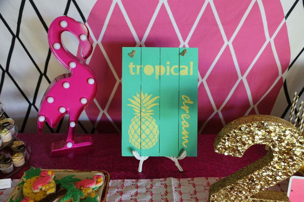 Tropical Wooden Signs