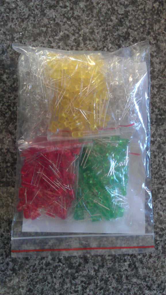LED Kit 5mm 5 values 500 pcs