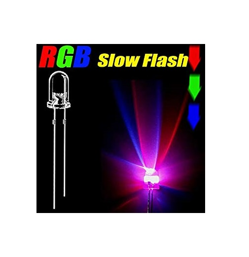LED 5mm Round Flash RGB Slow