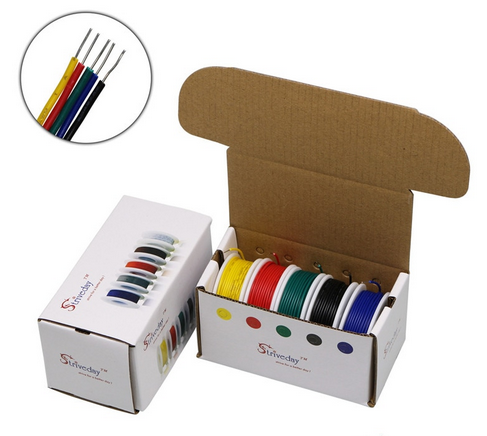 Hookup Wire Box, 5 Colours