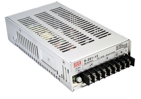Meanwell 12VDC 17A 200W switchmode power supply