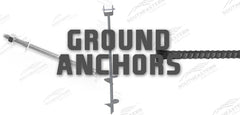 ground anchors, rebar, augers, anchor bolts
