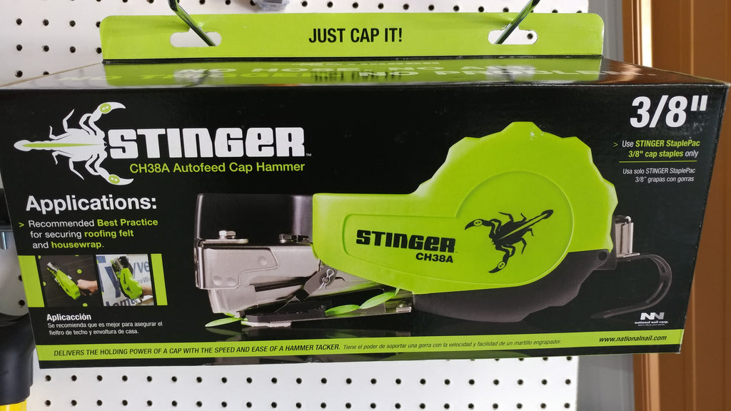 STINGER CH38A Autofeed Cap Hammer; 3/8""