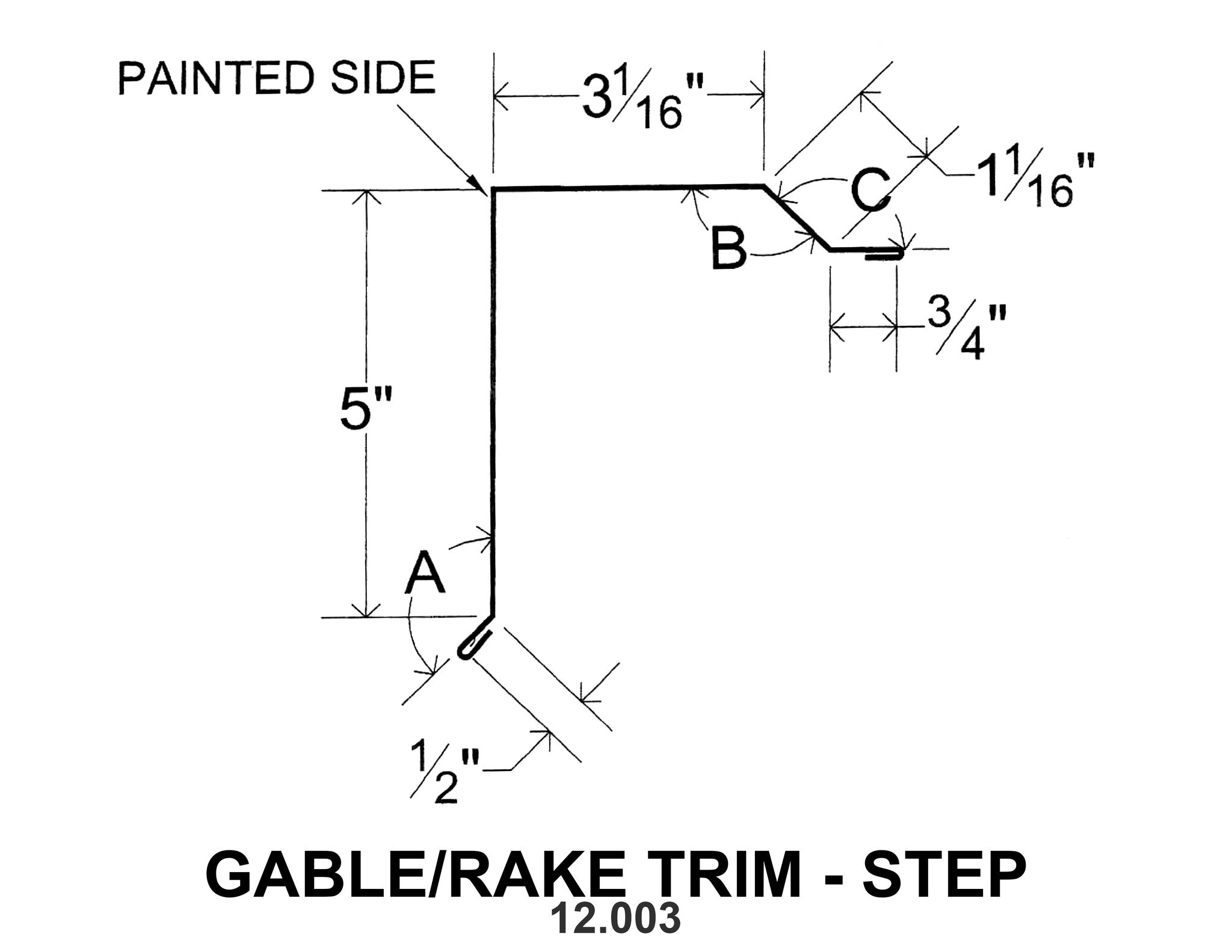 Gable Rake Trim Step 12 003 10 Ft Southeastern
