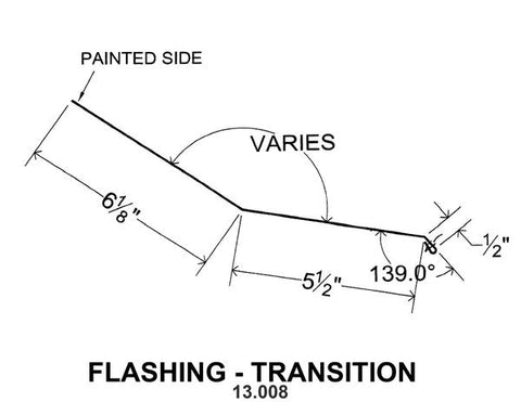 (40 Yr 26 Ga) 10ft FLASHING - TRANSITION 13.008