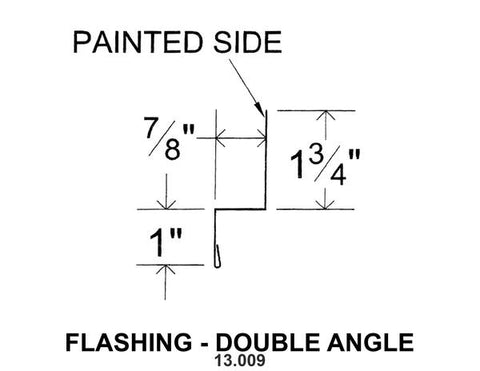 (40 Yr 26 Ga) 10ft FLASHING - DOUBLE ANGLE 13.009