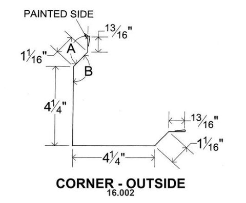 (40 Yr 26 Ga) 10ft CORNER - OUTSIDE 16.002
