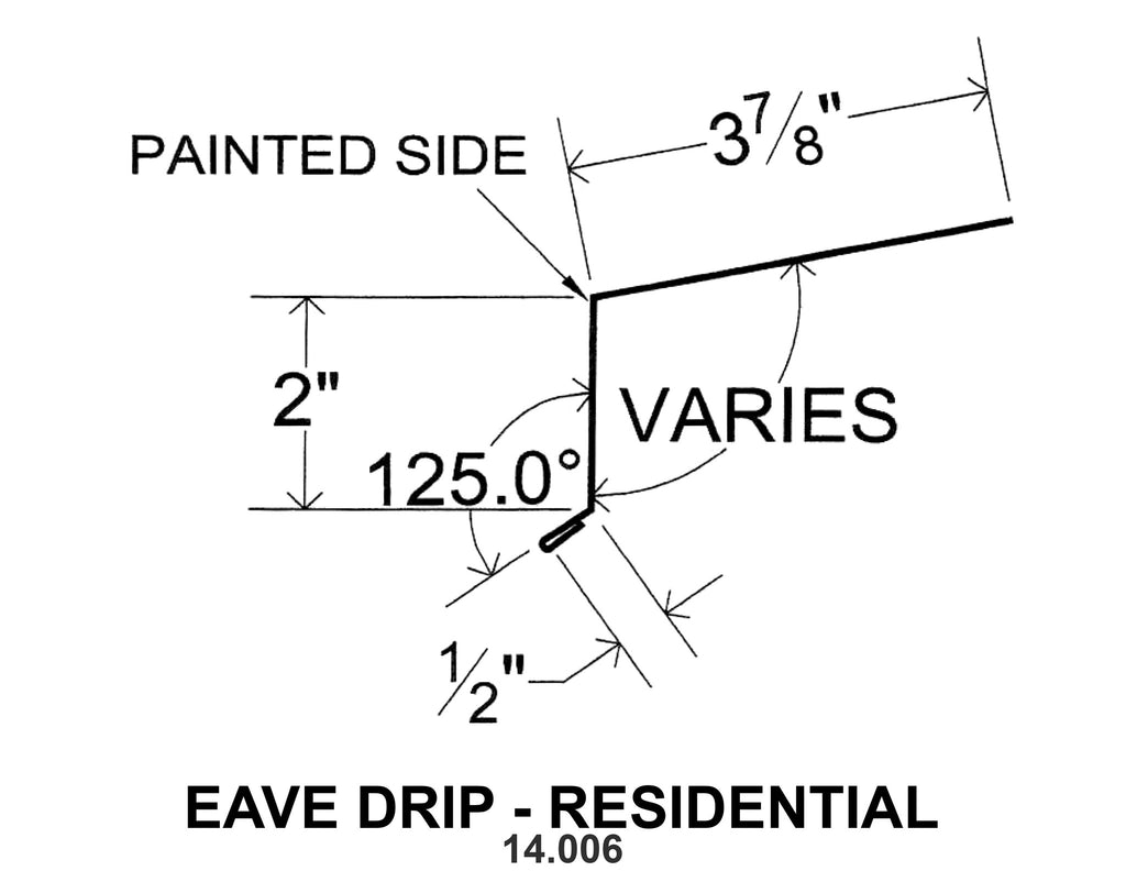 EAVE DRIP - RESIDENTIAL 14.006 10 ft
