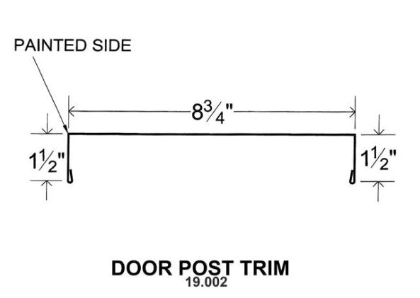(40 Yr 26 Ga) 10ft DOOR POST TRIM 19.002