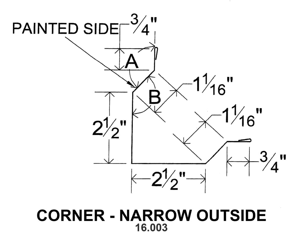 CORNER - NARROW OUTSIDE 16.003-1