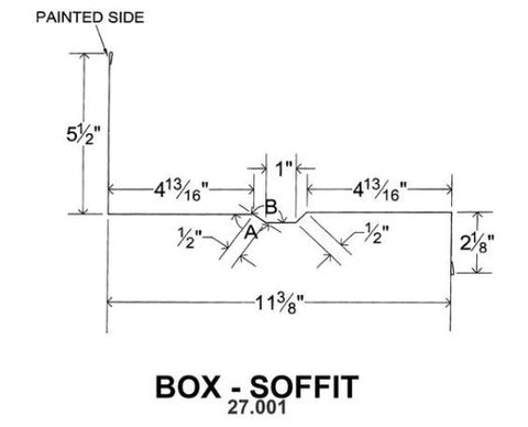 (40 Yr 26 Ga) 10ft BOX - SOFFIT 27.001