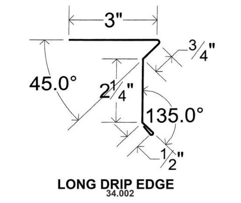 (40 Yr 26 Ga) 10ft DRIP EDGE - LONG 34.002
