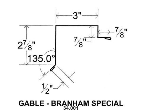 (40 Yr 26 Ga) 10ft GABLE - BRANHAM SPECIAL 34.001