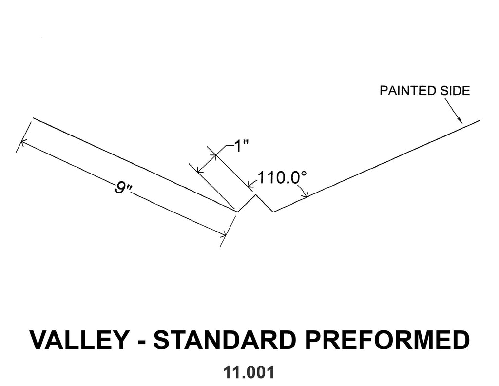 VALLEY - STANDARD PREFORMED 11.001 10 ft
