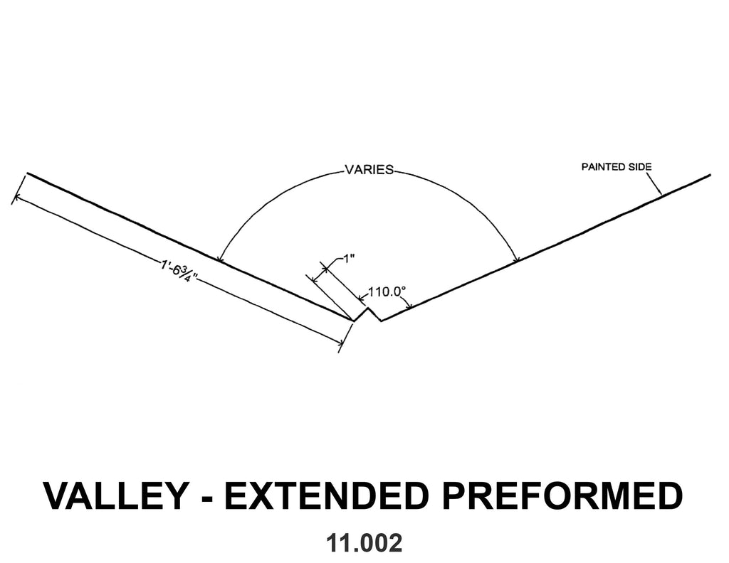 VALLEY - EXTENDED PREFORMED 11.002 10 ft