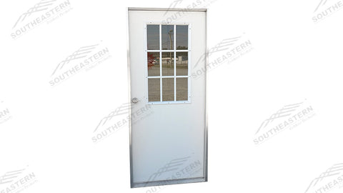 "36""x80"" STEEL 9 Lite Walk In Door"