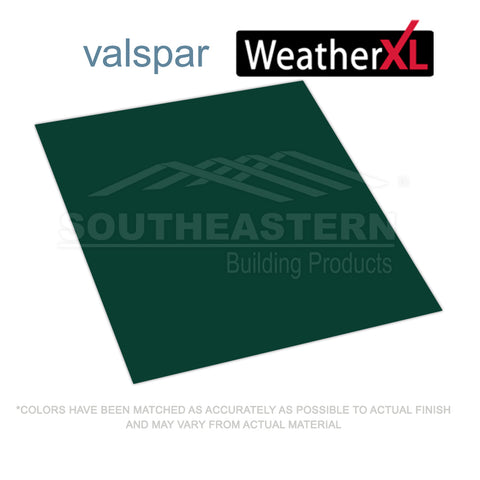 10 Yr Valspar Weather XL (29 gauge) FLAT METAL- Ivy Green