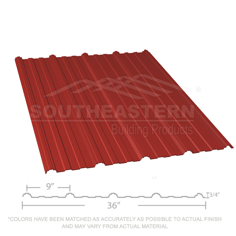 10 Year Metal Roofing (29 gauge) - Barn Red